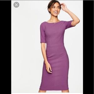 Boden Kaia Ottoman Purple Fitted Dress  Size 6